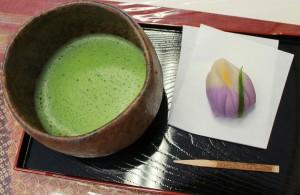 季節のねりきりとお抹茶のセット